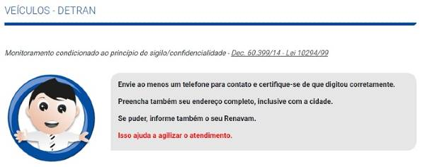 Email do Detran SP